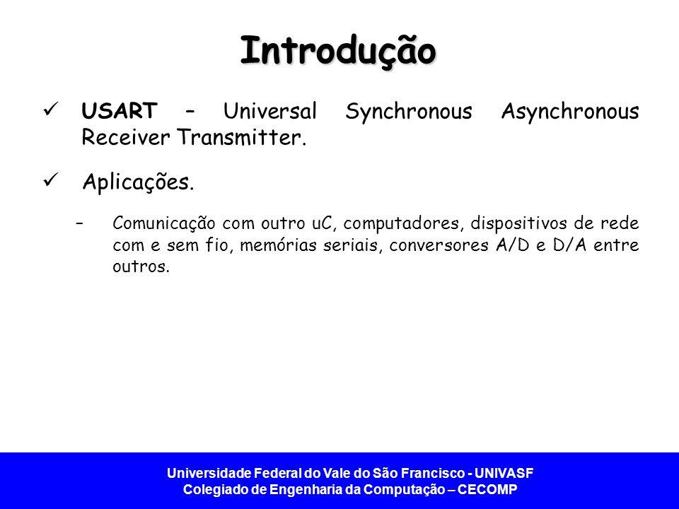 Universidade Federal do Vale do São Francisco - UNIVASF Colegiado de Engenharia da Computação – CECOMP Introdução USART – Universal Synchronous Asynch