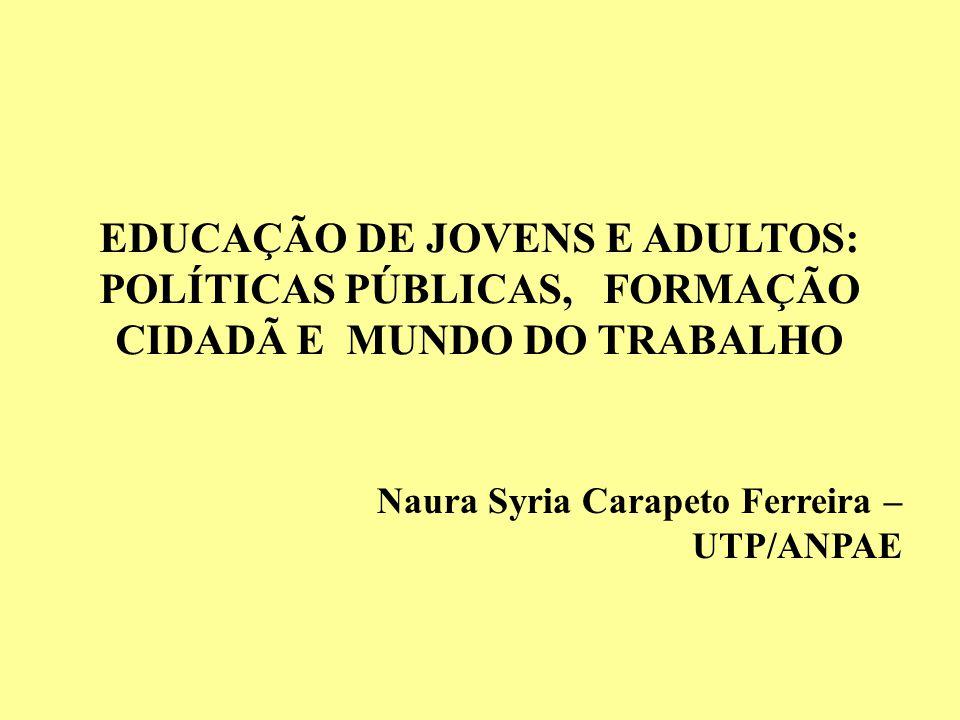 MEC uma de suas metas prioritárias: assegurar a todos os brasileiros de 15 anos e mais que não tiveram acesso à escola ou dela foram excluídos precocemente, o ingresso, a permanência e a conclusão do ensino fundamental com qualidade.