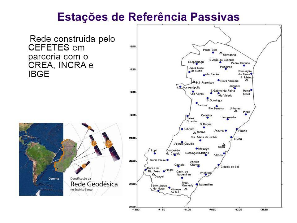 Estações de Referência Passivas Rede construida pelo CEFETES em parceria com o CREA, INCRA e IBGE