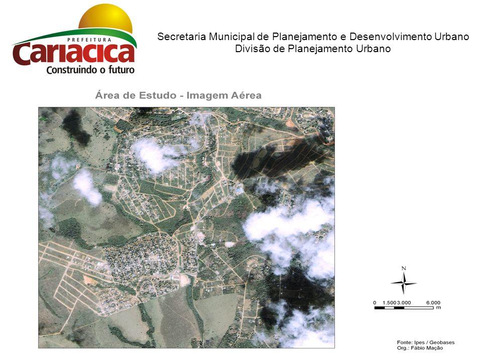 Materiais: Microcomputador Aplicativo de SIG Restituição Aerofotogranométrica Imagem Aérea Metodologia: Geração de mapas a partir das informações existentes e cruzamento de dados cartográficos.