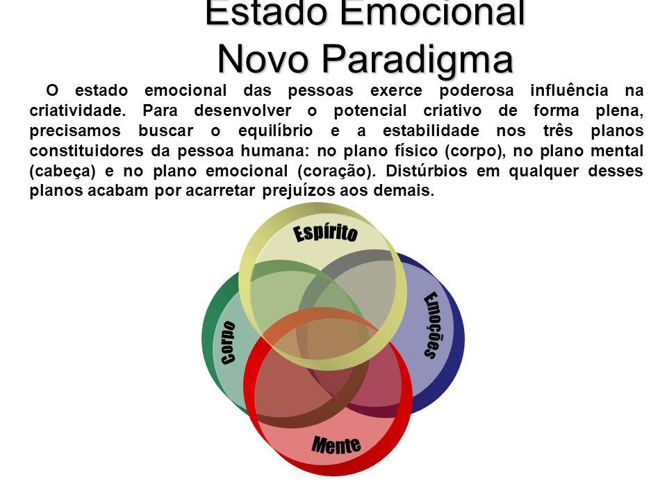 Estado Emocional Novo Paradigma O estado emocional das pessoas exerce poderosa influência na criatividade.