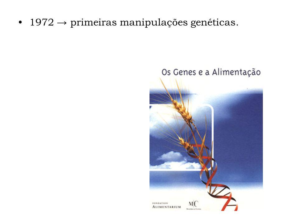 1972 primeiras manipulações genéticas.