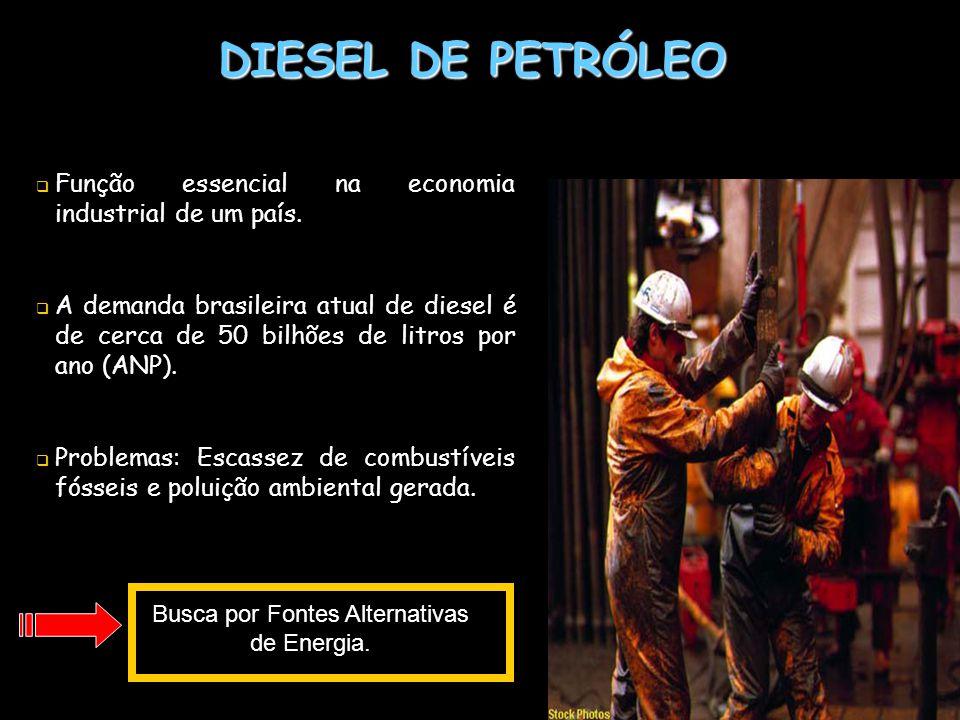 DIESEL DE PETRÓLEO Função essencial na economia industrial de um país. A demanda brasileira atual de diesel é de cerca de 50 bilhões de litros por ano