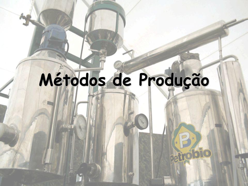 Métodos de Produção do Biodiesel Métodos de Produção