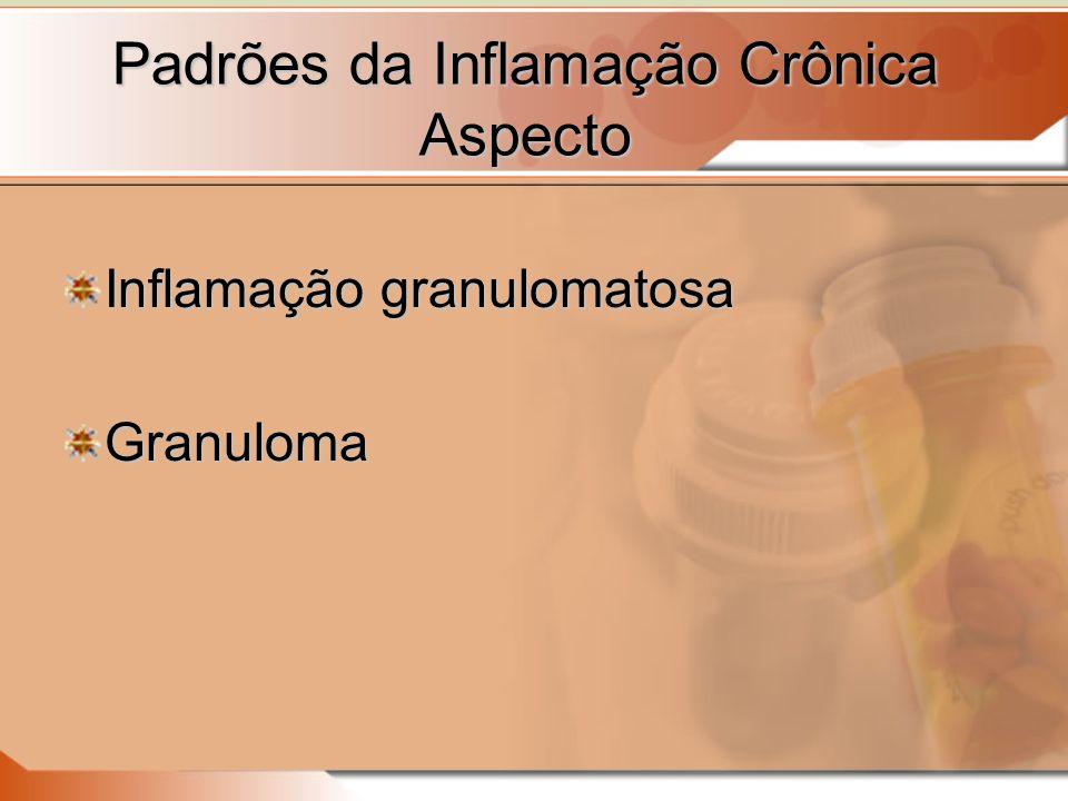 Padrões da Inflamação Crônica Aspecto Inflamação granulomatosa Granuloma