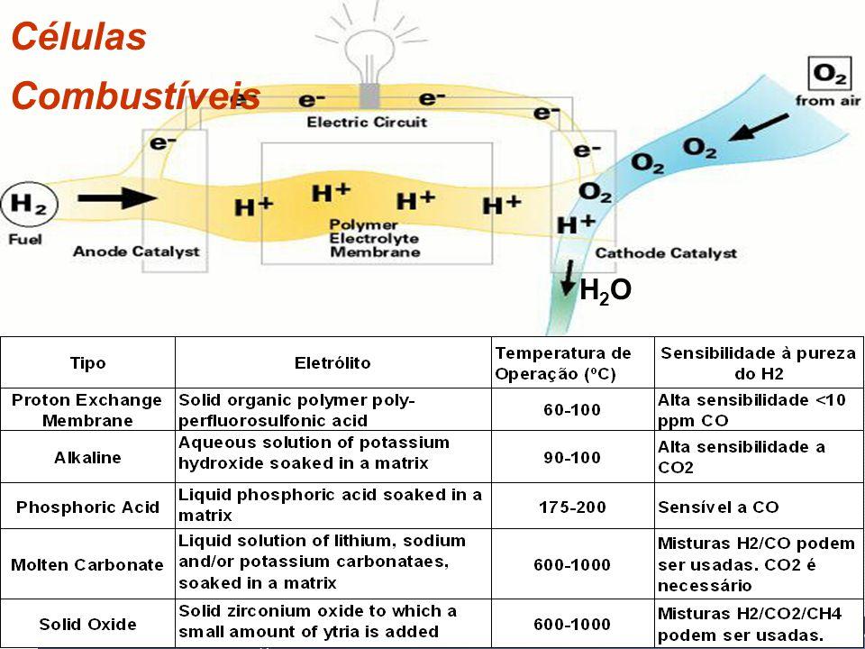 Células Combustíveis H2OH2O