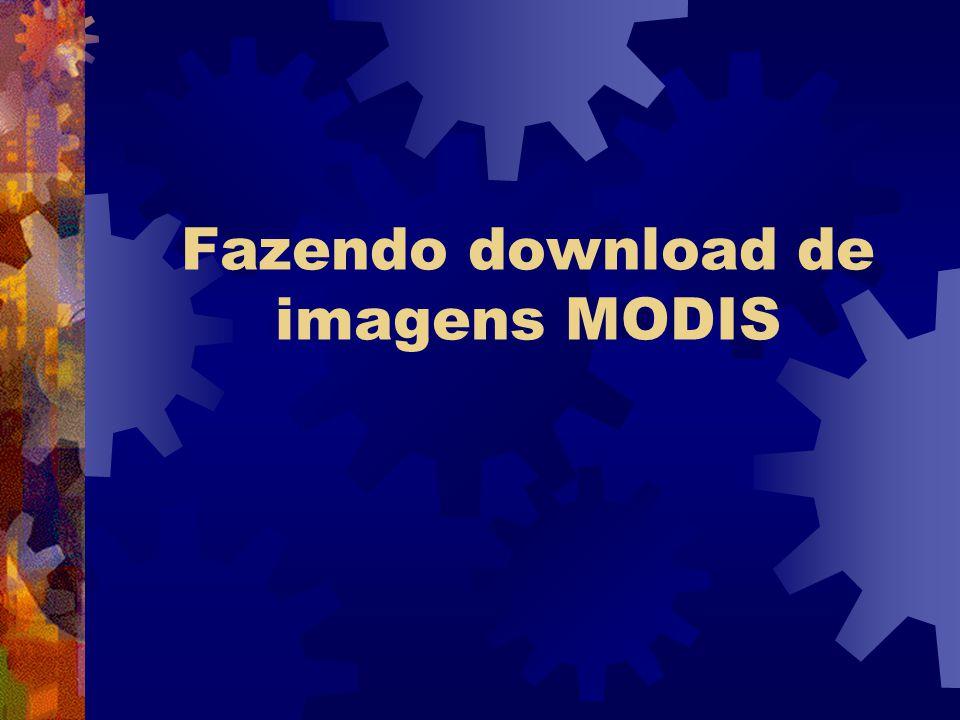 Fazendo download de imagens MODIS