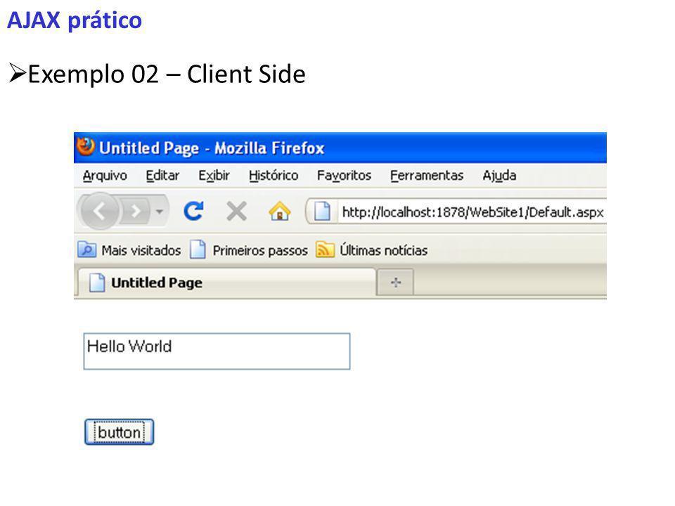 AJAX prático Exemplo 02 – Client Side