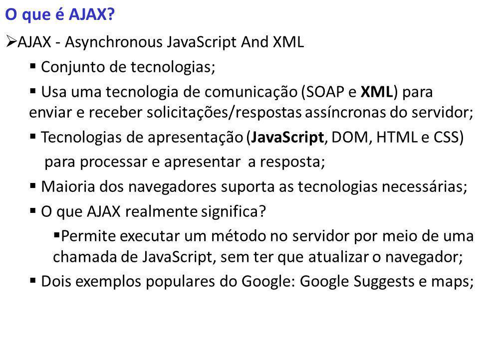 O que é AJAX.