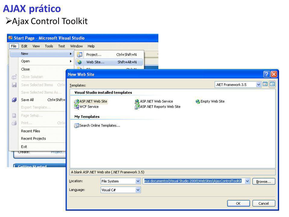 AJAX prático Ajax Control Toolkit