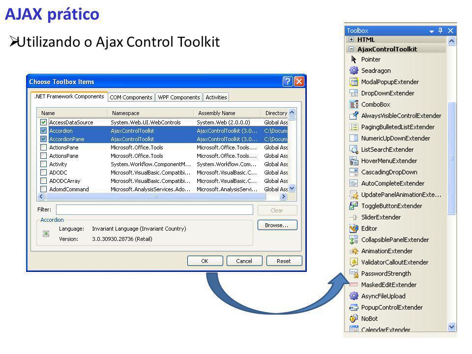AJAX prático Utilizando o Ajax Control Toolkit
