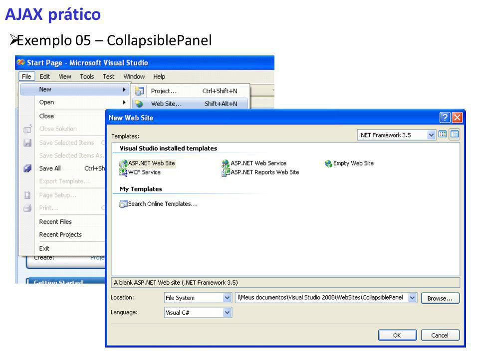 AJAX prático Exemplo 05 – CollapsiblePanel