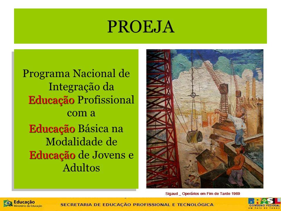 Sigaud _ Operários em Fim de Tarde 1969 PROEJA Educação Programa Nacional de Integração da Educação Profissional com a Educação Educação Educação Bási