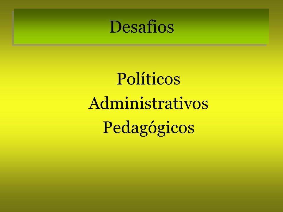 Desafios Políticos Administrativos Pedagógicos