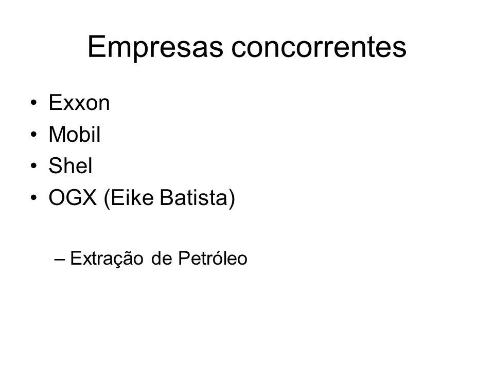 Empresas concorrentes Exxon Mobil Shel OGX (Eike Batista) –Extração de Petróleo