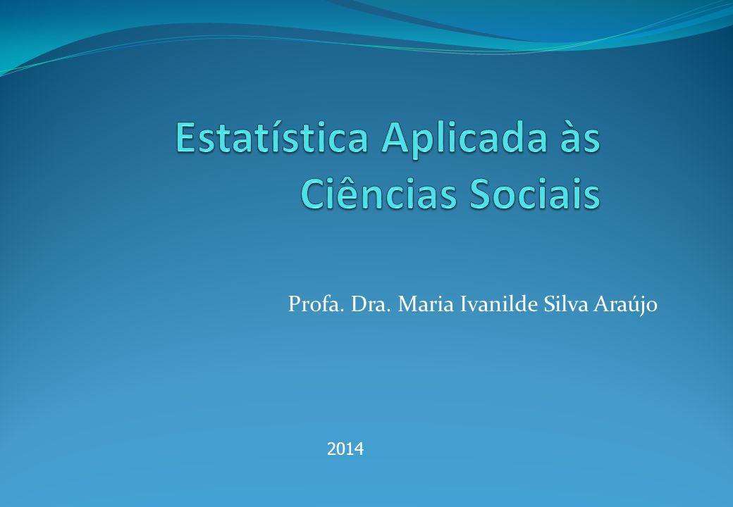 Profa. Dra. Maria Ivanilde Silva Araújo 2014