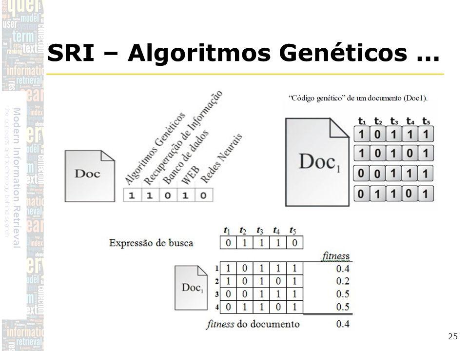 DSC/CCT/UFCG 25 SRI – Algoritmos Genéticos...
