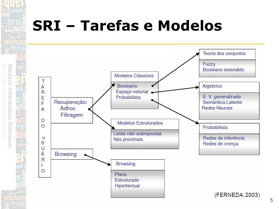 DSC/CCT/UFCG 5 SRI – Tarefas e Modelos (FERNEDA, 2003)
