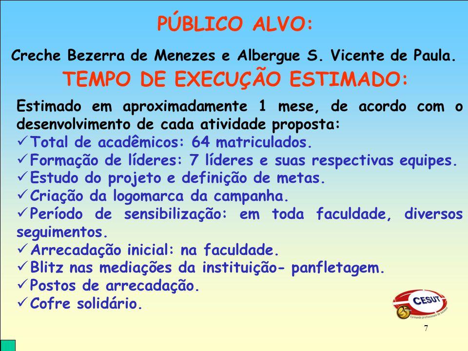 Creche Bezerra de Menezes e Albergue S.Vicente de Paula.