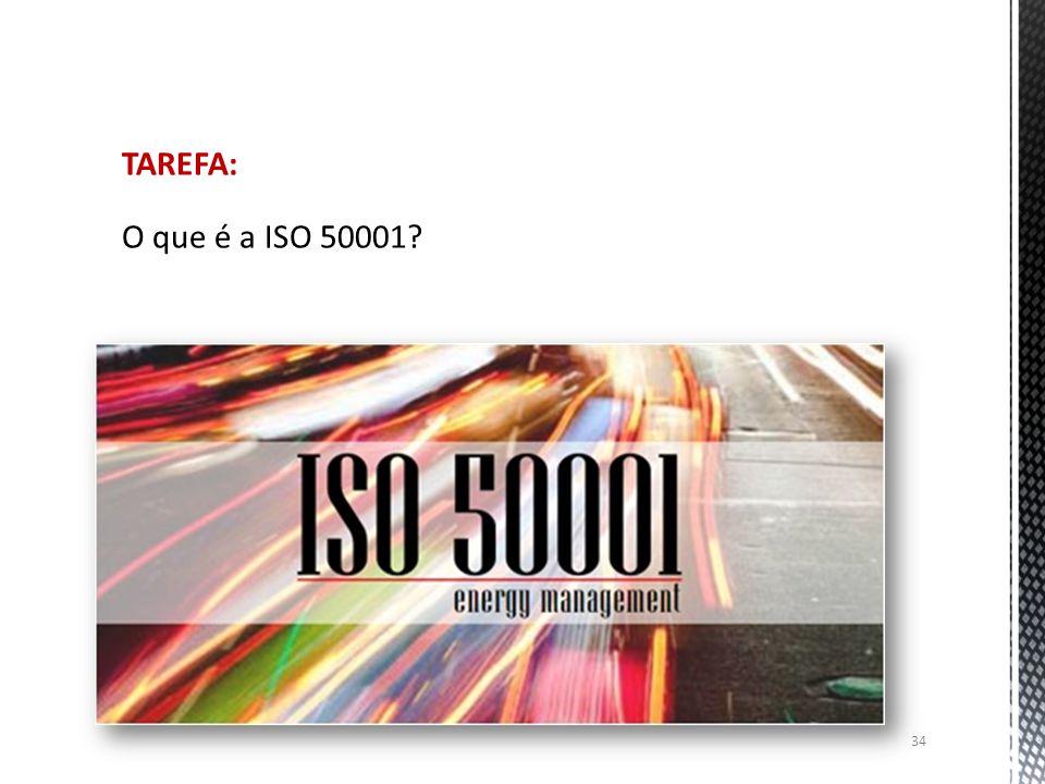 34 TAREFA: O que é a ISO 50001?