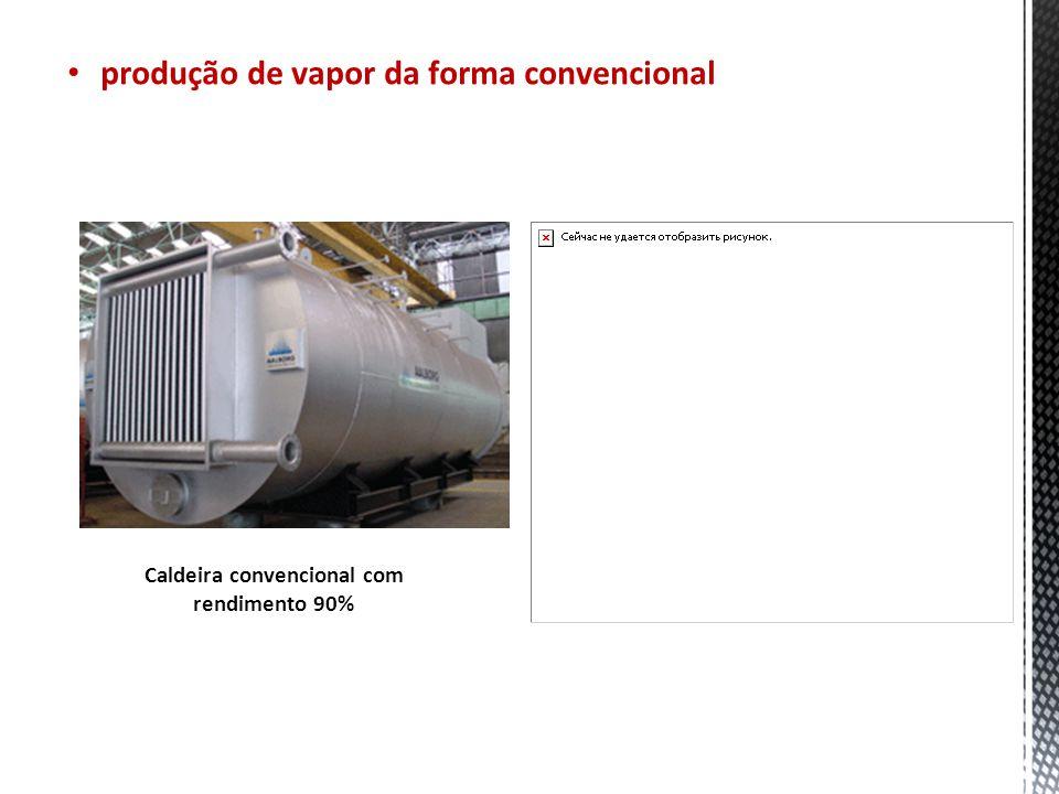 Caldeira convencional com rendimento 90% Produção de Vapor produção de vapor da forma convencional