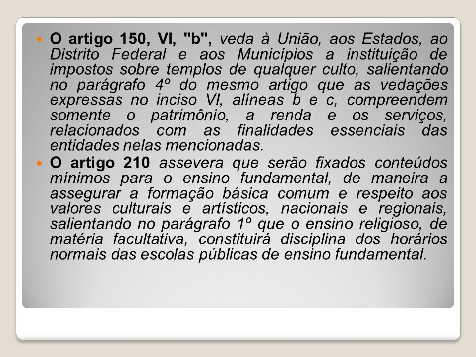 O artigo 150, VI,