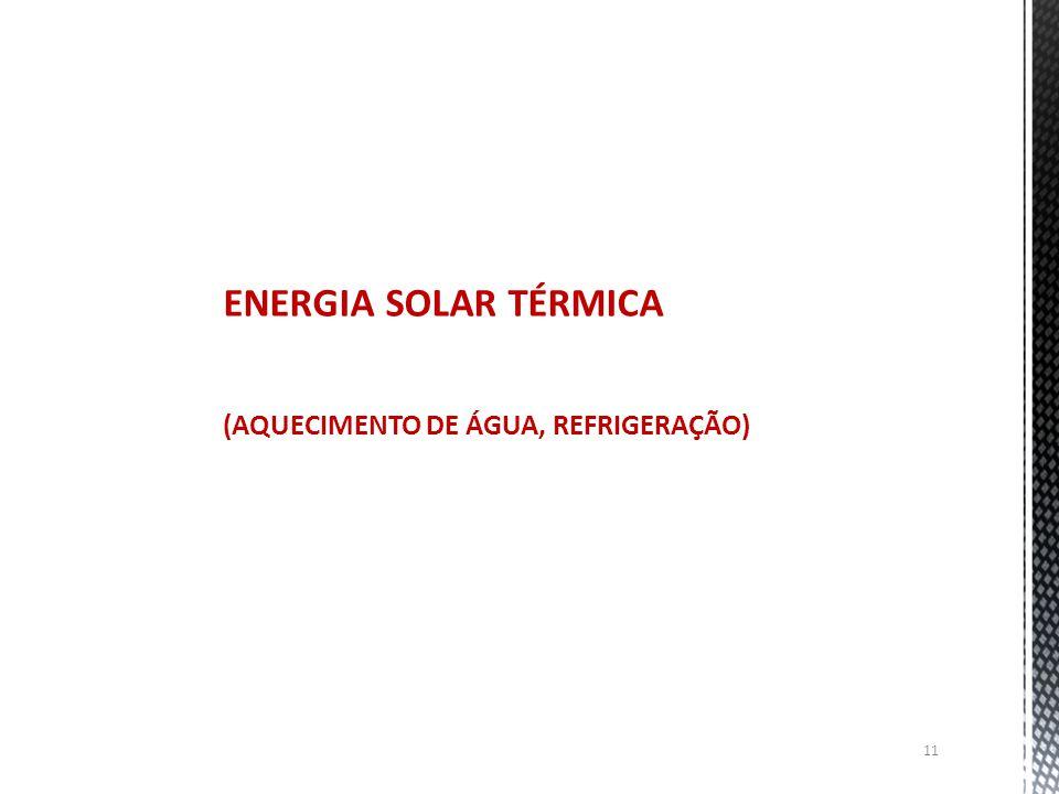 11 ENERGIA SOLAR TÉRMICA (AQUECIMENTO DE ÁGUA, REFRIGERAÇÃO)