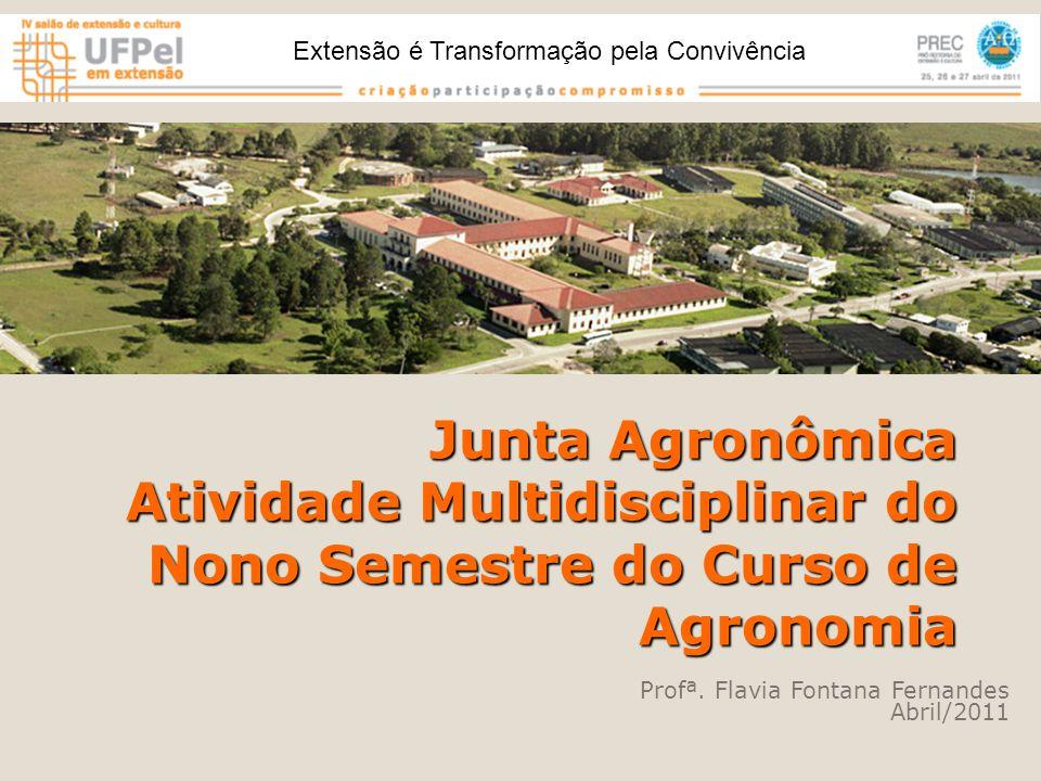Junta Agronômica Atividade Multidisciplinar do Nono Semestre do Curso de Agronomia Profª.