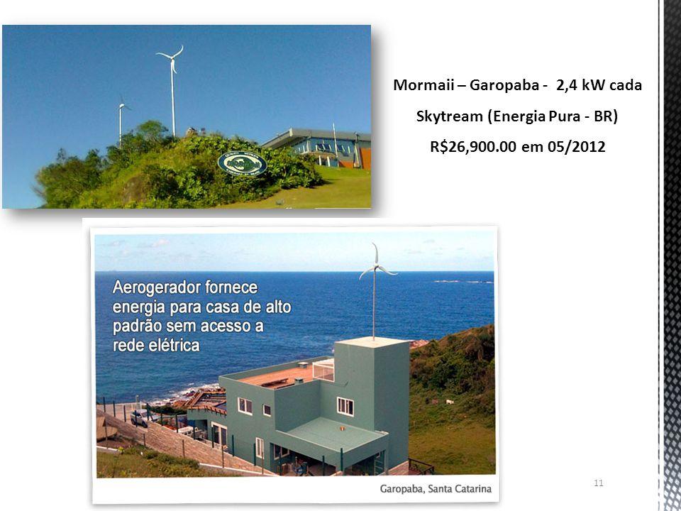 11 Mormaii – Garopaba - 2,4 kW cada Skytream (Energia Pura - BR) R$26,900.00 em 05/2012