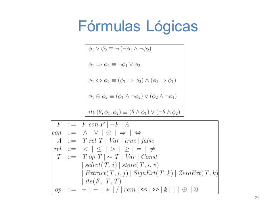 Fórmulas Lógicas 29