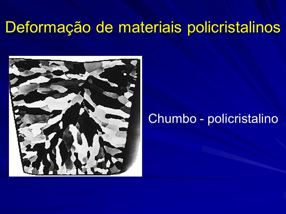 Deformação de materiais policristalinos Chumbo - policristalino