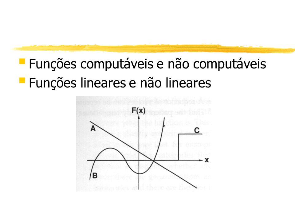 § Funções computáveis e não computáveis § Funções lineares e não lineares
