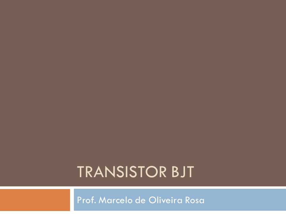 BJT Limites de operação Condições para o transistor não queimar: Corrente máxima no coletor (i C-max ) Tensão máxima coletor-emissor (v CE-max ) breakdown – v (br)CE Potência máxima de dissipação (P C-max ) P C-max = v CE i C Contidas na folha de dados do transistor.