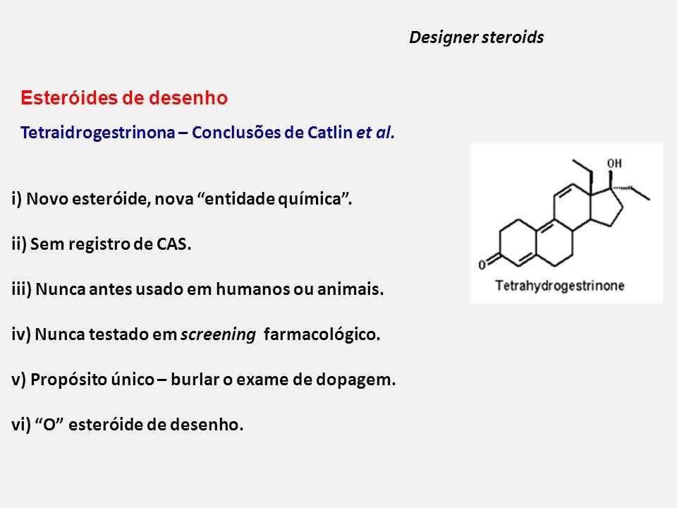 i) Novo esteróide, nova entidade química.ii) Sem registro de CAS.