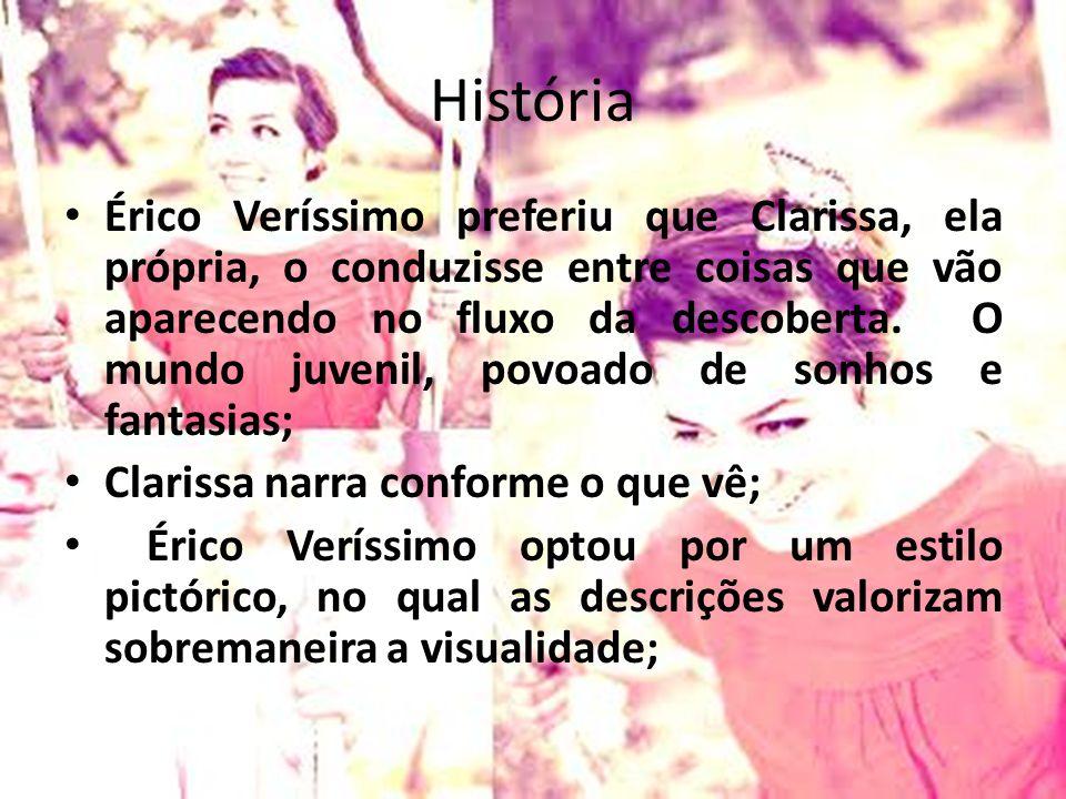 História Érico Veríssimo preferiu que Clarissa, ela própria, o conduzisse entre coisas que vão aparecendo no fluxo da descoberta. O mundo juvenil, pov