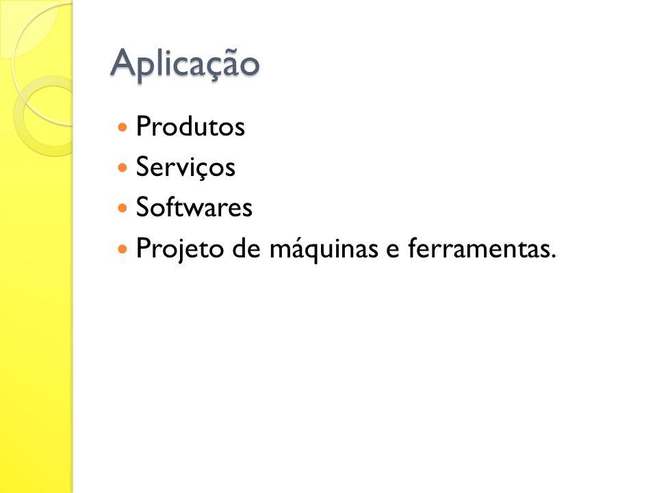 Aplicação Produtos Serviços Softwares Projeto de máquinas e ferramentas.
