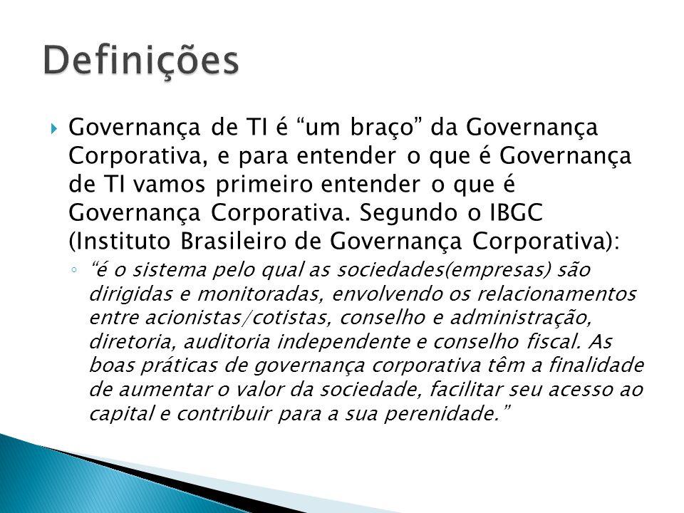 Alinhamento Estratégico e Compliance Decisão, Compromisso, Priorização e Alocação de Recursos Estrutura, Processos, Organização e Gestão Medição e Desempenho de TI