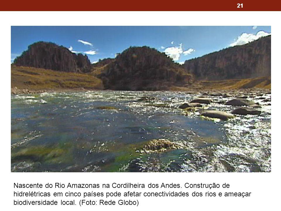 21 Nascente do Rio Amazonas na Cordilheira dos Andes.
