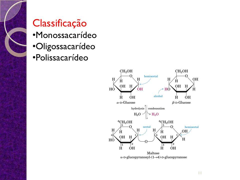 São os carboidratos mais simples, apenas uma unidade de açúcar em cada molécula.
