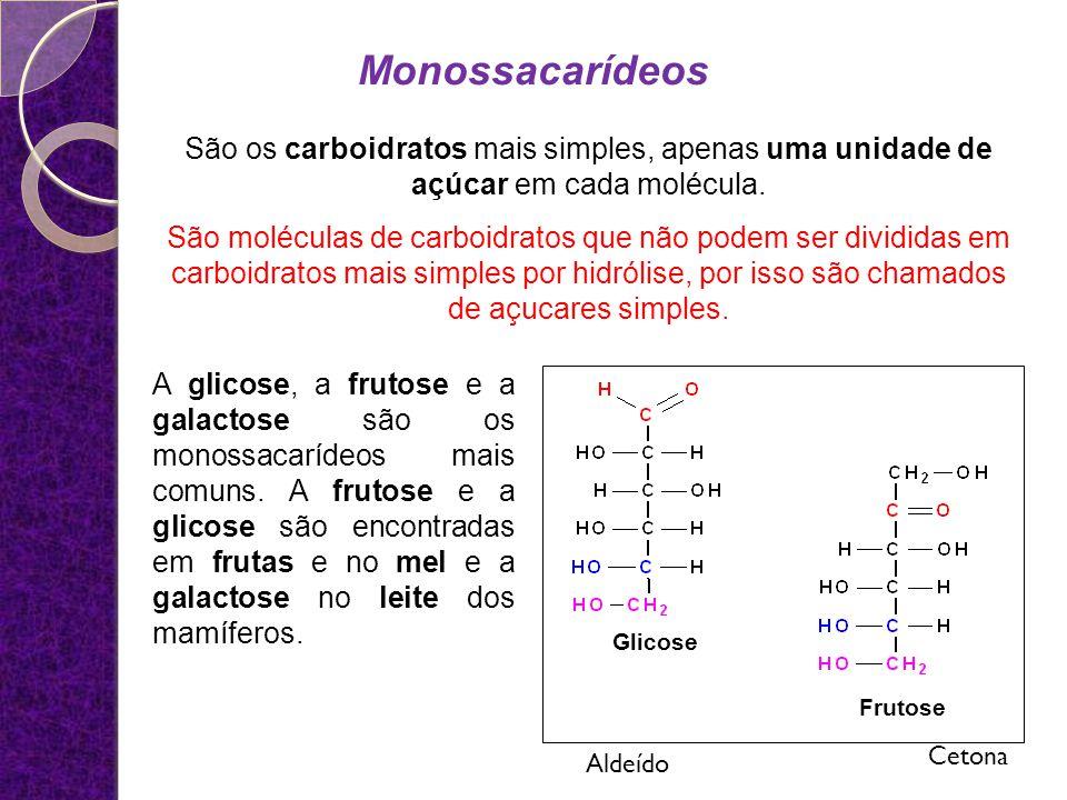 Monossacarídeos Isomeria óptica rotação da luz polarizada: * carbono assimétrico Figura 1: Representação das estruturas isômeras do gliceraldeído Levógiro destrógiro
