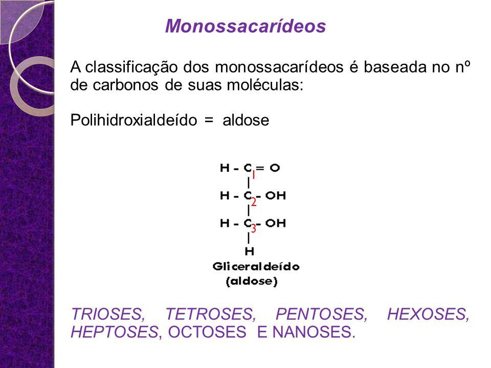 Monossacarídeos Destes, os mais importantes são as Pentoses e as Hexoses.