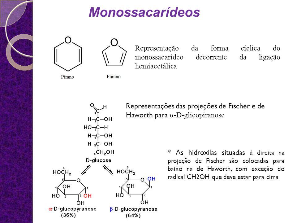 Oligossacarídeos São polímeros contendo de 2 a 10 unidades de monossacarídeos unidos por ligações hemiacetálicas.