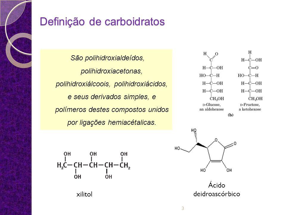 Importância dos Carboidratos na Natureza Maior grupo de compostos orgânicos encontrado na natureza Juntamente com as proteínas formam os constituintes principais dos organismos vivos Fonte de energia mais abundante e econômica para os seres vivos 4