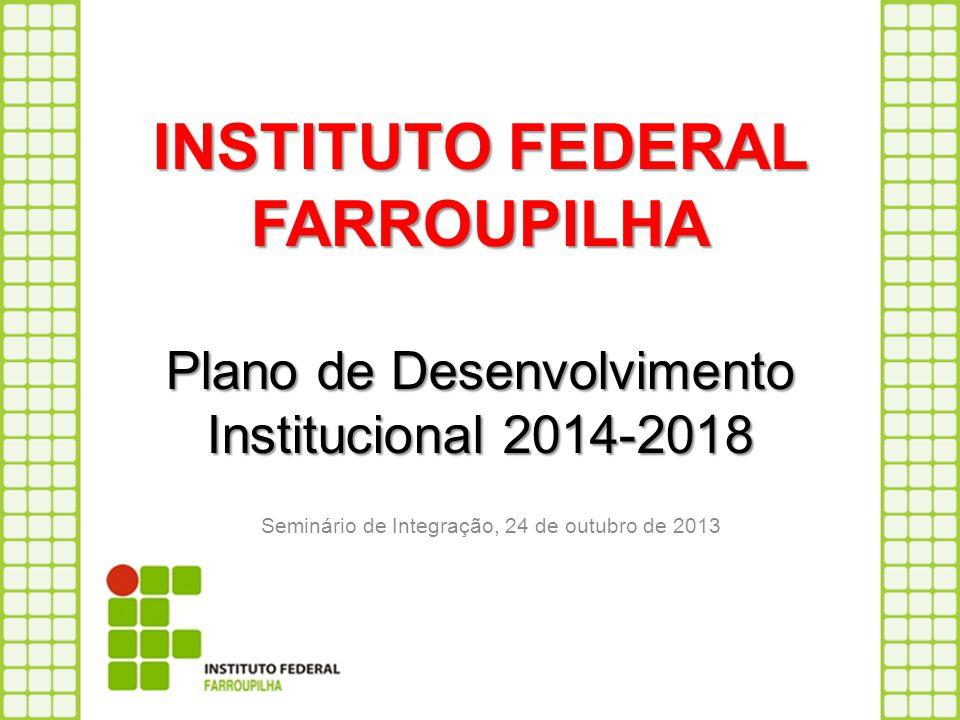 INSTITUTO FEDERAL FARROUPILHA Plano de Desenvolvimento Institucional 2014-2018 Seminário de Integração, 24 de outubro de 2013