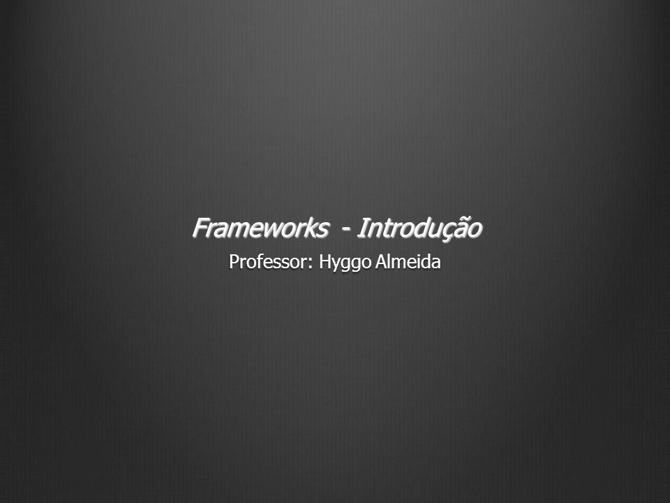 Benefícios Os principais benefícios de frameworks de aplicação são: Modularidade Modularidade Reusabilidade Reusabilidade Extensibilidade Extensibilidade Inversão de controle Inversão de controle 12 Frameworks - Introdução