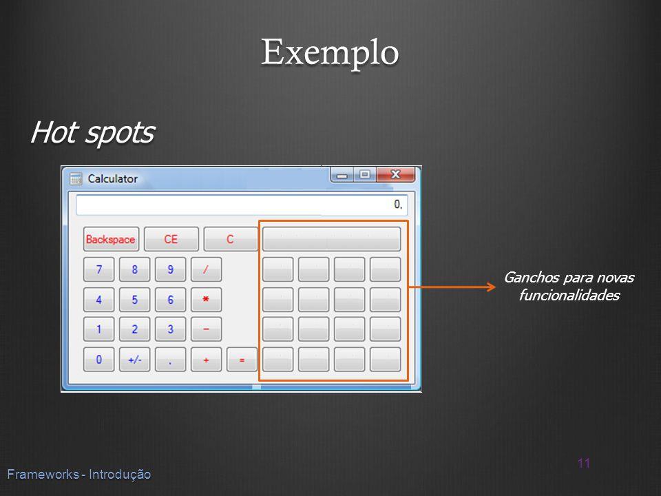Exemplo Hot spots 11 Frameworks - Introdução Ganchos para novas funcionalidades