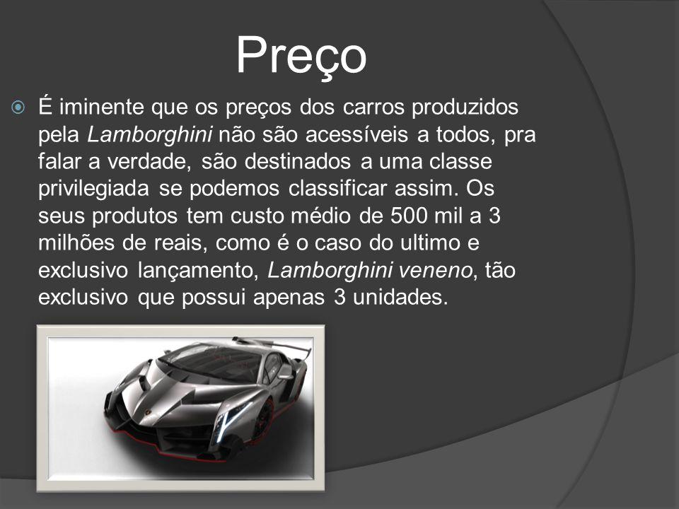 Distribuição A distribuição/Venda de carros esportivos sempre é iniciada a partir de um grande evento de amostra do produto.