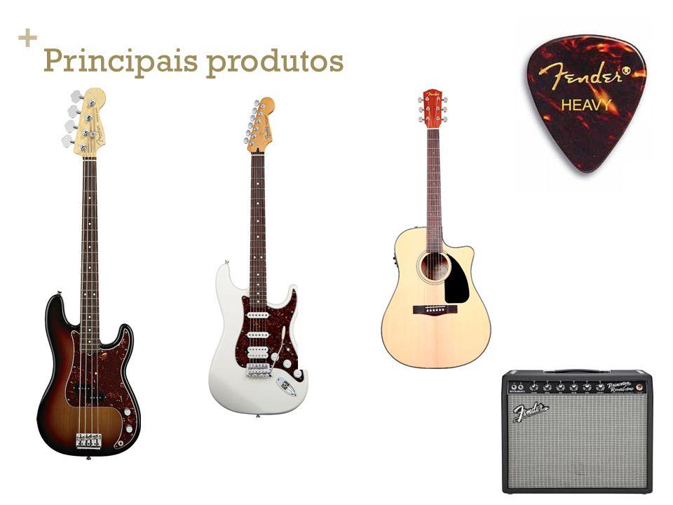 + Estratédia de Comunicação A principal característica da Fender no cenário musical é o apelo para o estilo vintage ( classico/antigo ) de se tocar guitarra, afinal as referencias musicais são praticamente todas das ultimas décadas e as características físicas dos instrumentos e do logotipo se mantiveram iguais as originais da década de 40.