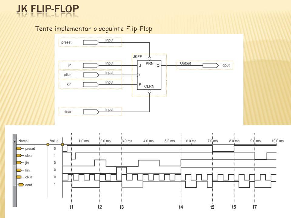 Tente implementar o seguinte Flip-Flop