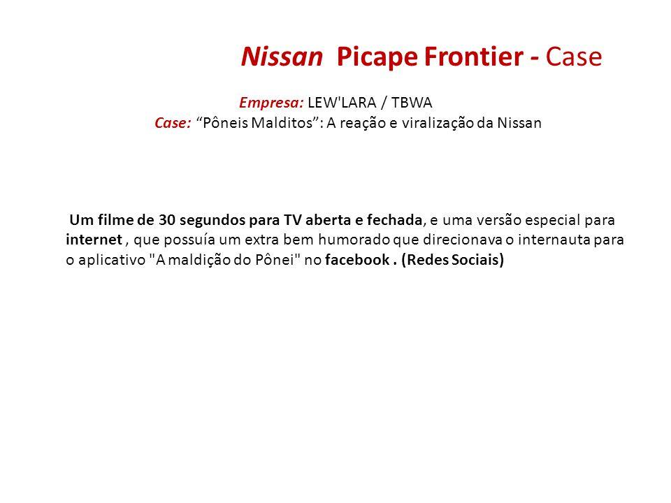 Nissan Picape Frontier - Case Empresa: LEW'LARA / TBWA Case: Pôneis Malditos: A reação e viralização da Nissan Um filme de 30 segundos para TV aberta